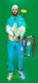 illustration, fashion, painting, Ben Liu, Montreal, Mtl, portrait, Montrealer, fashion, streetstyle, urbansketch, Ben Liu, adidas original, guy, sportive, marocain,