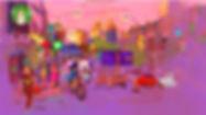 illustration, landscape, painting, Ben Liu, Montreal, Mtl, urbansketch, summer, Berri, UQAM, panda, été, Starbucks, twilight
