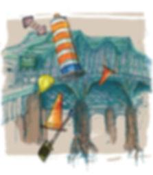 Ben Liu illustration Le pont Champlain Montréal