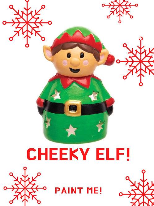 Paint your own Elf Tree Tea Light Holder