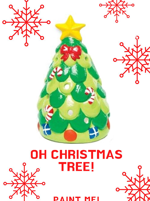 Paint your own Christmas Tree Tea Light Holder
