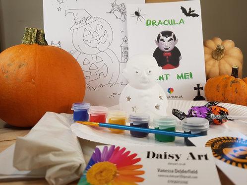 Paint your own Ceramic Dracula Tea Light Holder Activity Pack