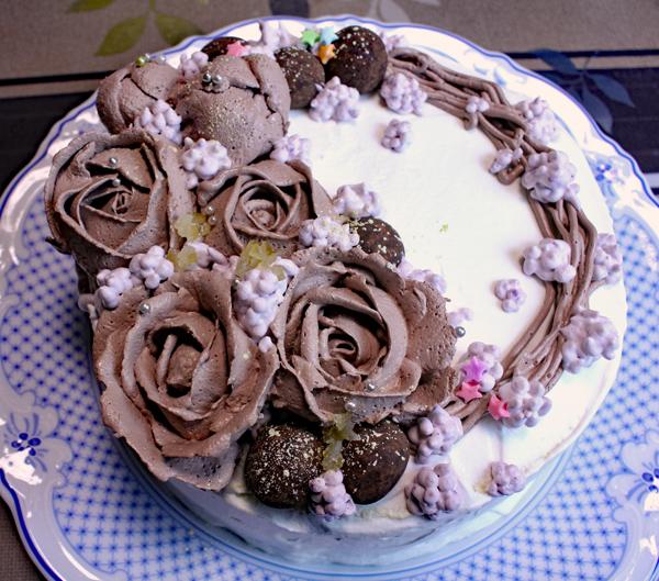 クリスマスケーキ チョコローズ
