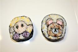 リラックマとカービィの巻き寿司