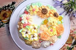 バースデーケーキ向日葵