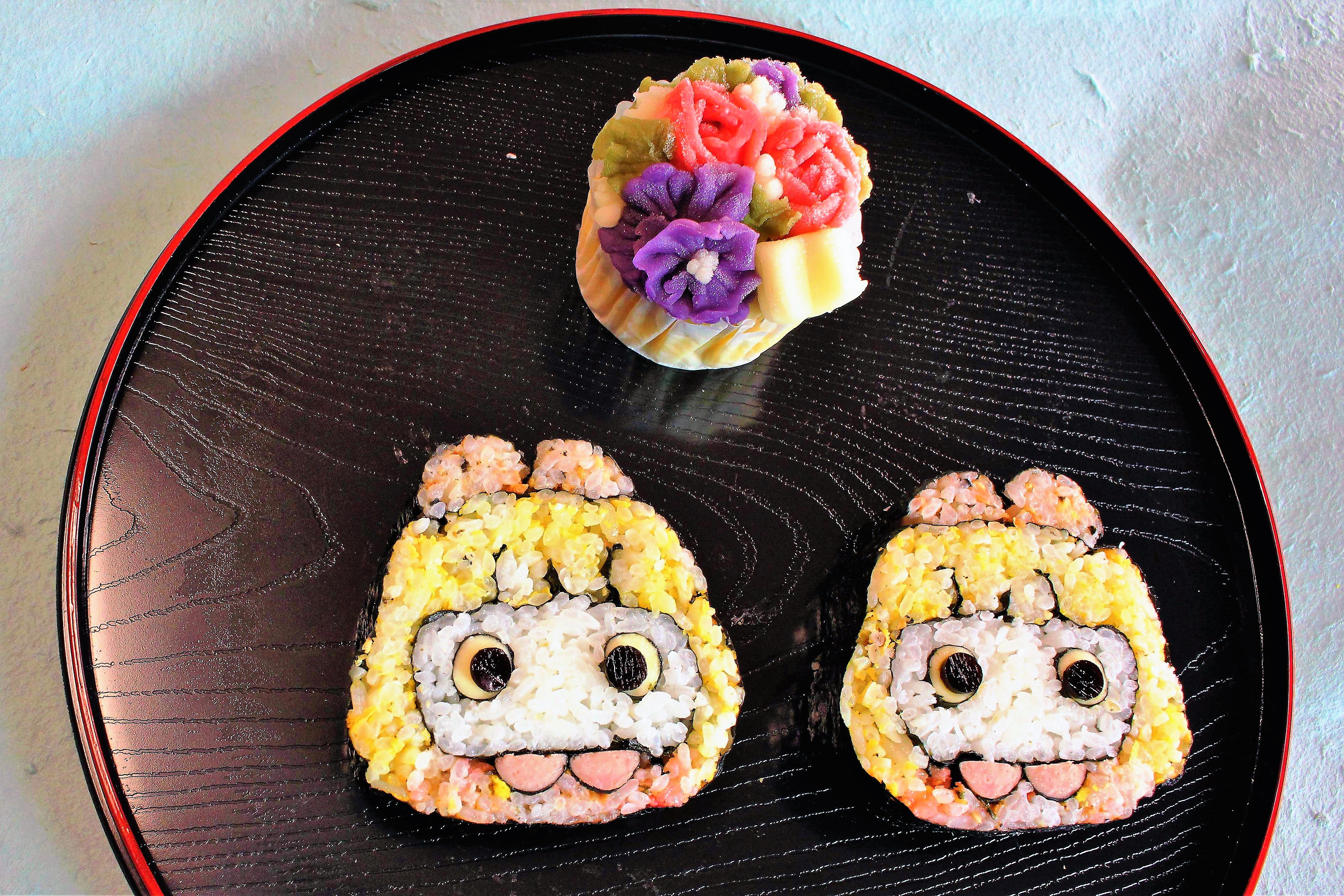 不思議の国のアリス巻き寿司あんフラワー