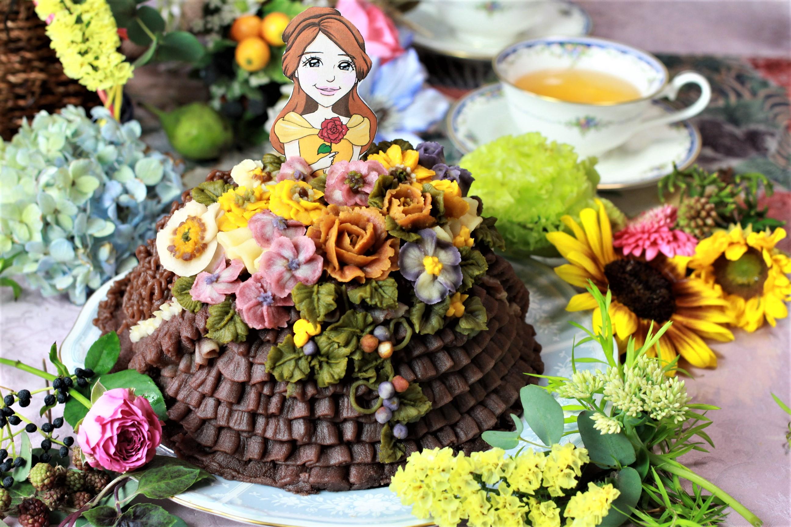 アンティークフラワードレスケーキ