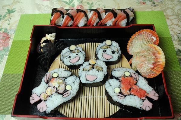 伊勢エビと尼さん寿司
