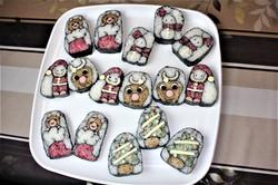 クリスマスの飾り巻き寿司