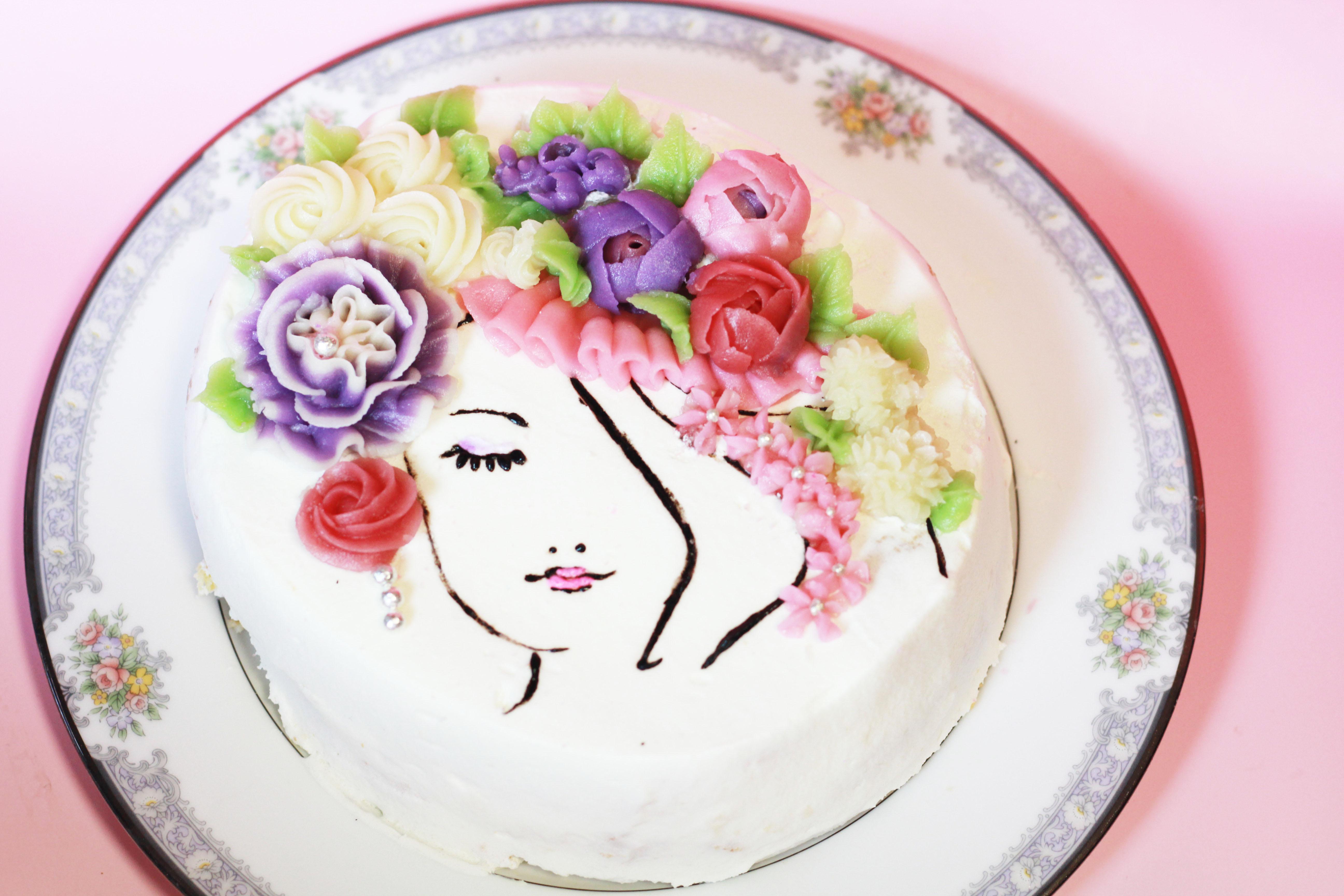 フラワーレディーケーキ