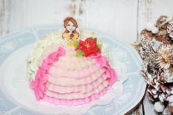 クリスマスプリンセスケーキ