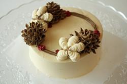 クリスマスケーキコットン松ぼっくり