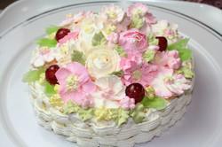 バースデーケーキ春の花籠