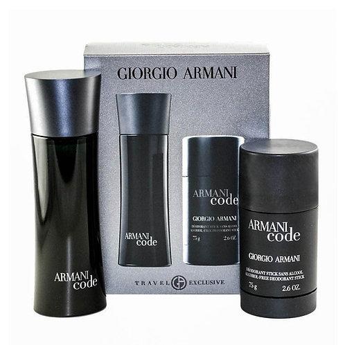 Armani Code for Men by Giorgio Armani 2 PieceTravel Set EDT