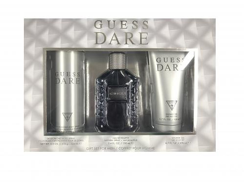 Guess Dare  3pc Gift Set for Men EDT