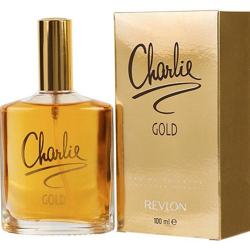 Charlie Gold for Women by Revlon Eau De Toilette Spray 3.4 oz