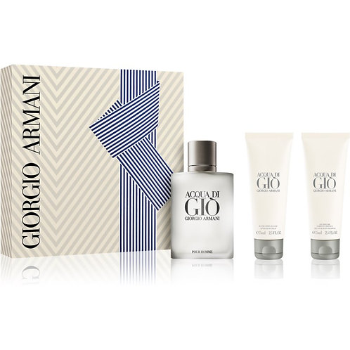 Acqua Di Gio for Men 3pc Gift Set by Giorgio Armani EDT