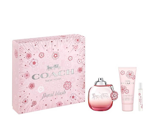Coach New York Floral Blush for Women 3pc Gift Set Eau de Parfum
