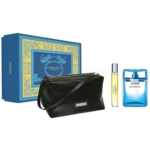 Versace Eau Fraiche for Men 3pc Gift Set Eau de Toilette