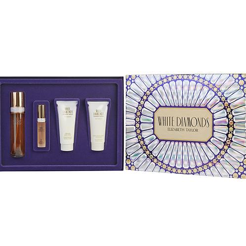 White Diamonds by Elizabeth Taylor for Women 4pc Gift Set EDT
