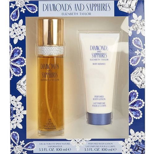 Diamonds & Sapphires by Elizabeth Taylor for Women 2pc Gift Set EDT