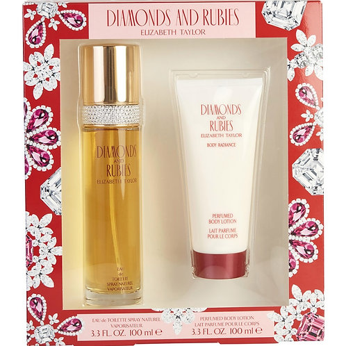 Diamonds & Rubies by Elizabeth Taylor for Women 2pc Gift Set EDT