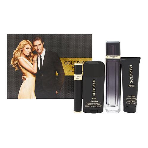 Paris Hilton Gold Rush Man 4pc Gift Set EDT
