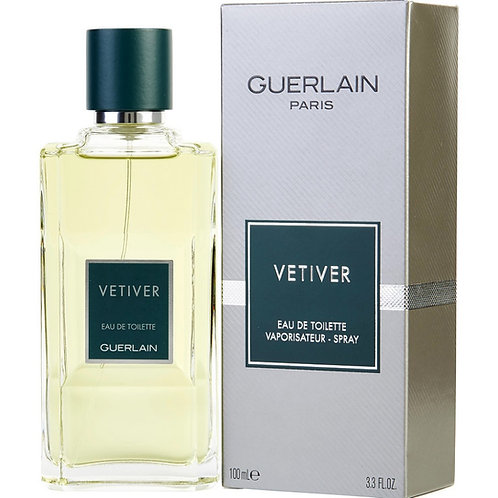Vetiver by Guerlain Eau De Toilette Spray (New Packaging) 3.3 oz