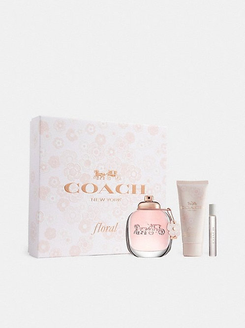 Coach New York Floral for Women 3pc Gift Set EDP 3oz