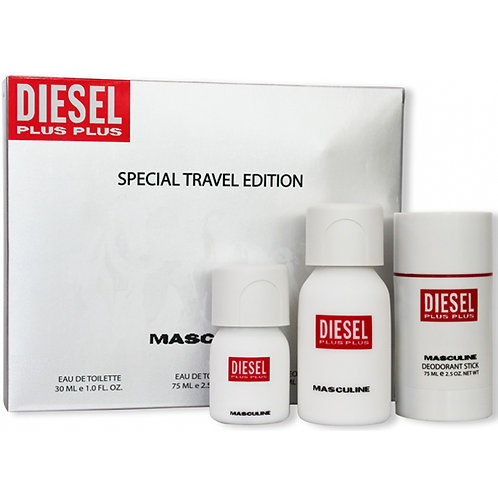 Diesel Plus Plus Masculine Special Travel Edition - 3 Piece Gift Set