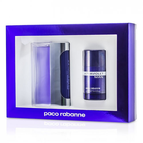 Paco Rabanne Ultraviolet 2pc Gift Set for Men EDT 3.4oz