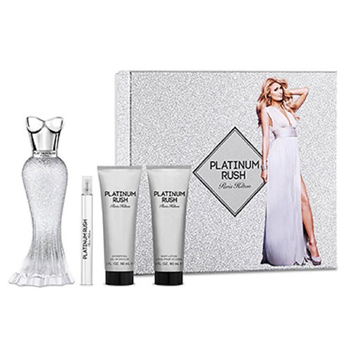 Paris Hilton Platinum Rush 4pc Gift Set EDP