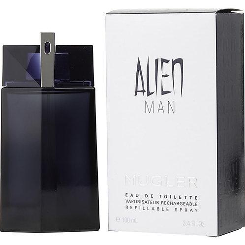 Alien Man by Thierry Mugler Eau De Toilette Refillable Spray 3.4 oz