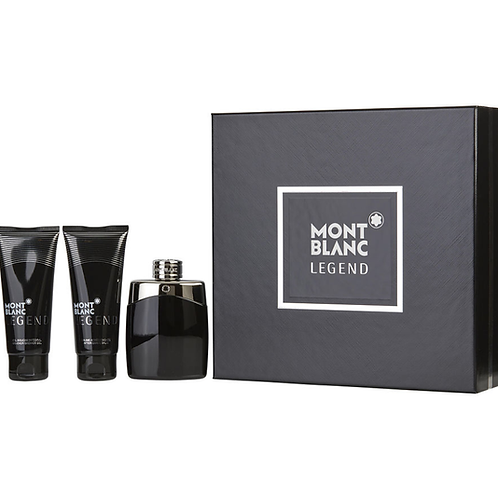 Mont Blanc Legend 3pc Gift Set EDT 3.3oz