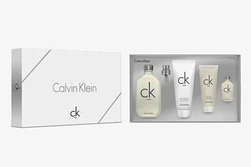 CK One Unisex by Calvin Klein 4 Piece Gift Set EDT