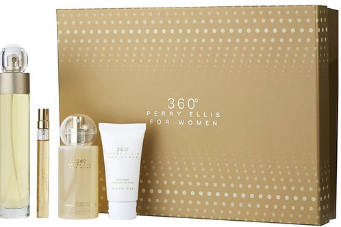 Perry Ellis 360 for Women 4pc Gift Set EDT