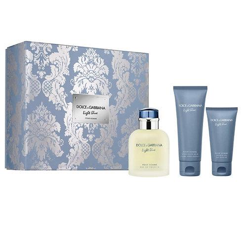 Dolce & Gabbana Light Blue for Men 3pc Gift Set Eau de Toilette