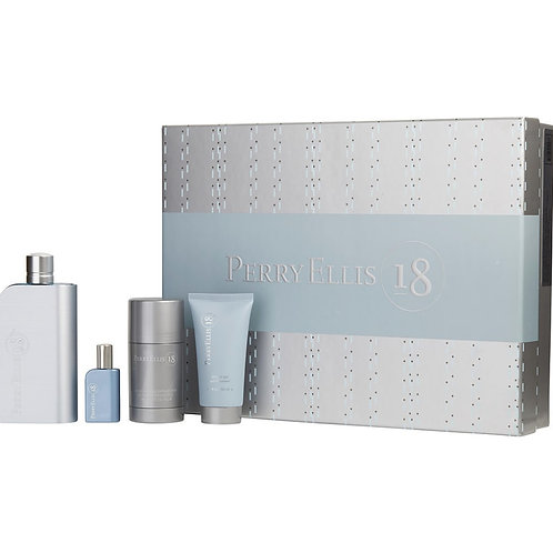 Perry Ellis 18 for Men 4pc Gift Set Eau de Toilette