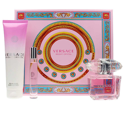 Versace Bright Crystal for Women 3pc Gift Set EDT