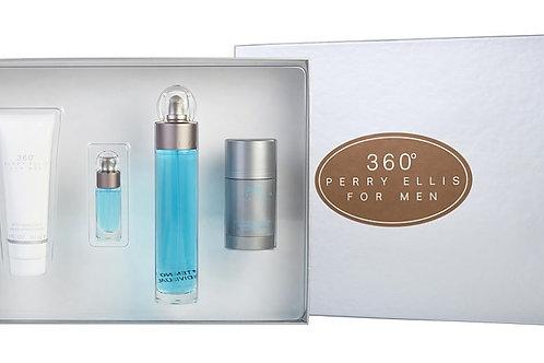Perry Ellis 360 for Men 4pc Gift Set EDT