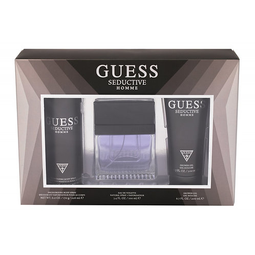 Guess Seductive Homme 3pc Gift Set for Men EDT