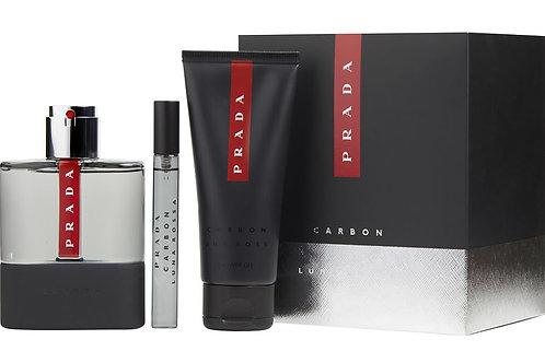 Prada Luna Rossa Carbon for Men 3 Piece Gift Set EDT