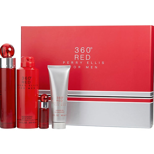 Perry Ellis 360 Red for Men 4pc Gift Set EDT