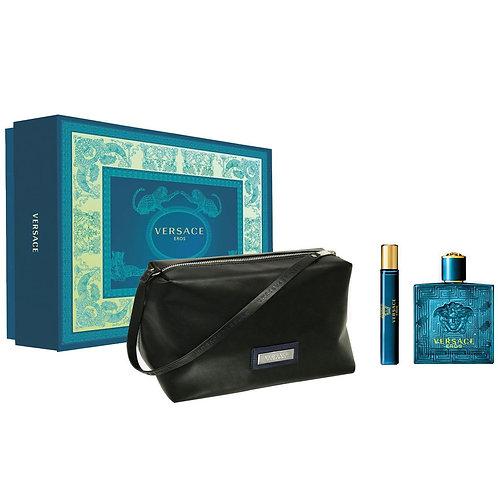 Versace Eros for Men 3pc Gift Set Eau de Toilette
