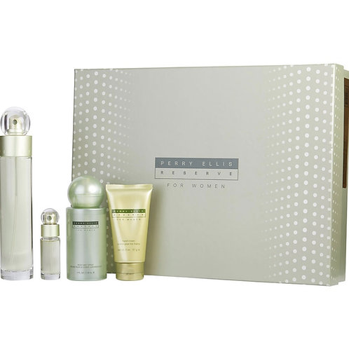Perry Ellis Reserve for Women 4pc Gift Set EDP