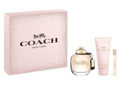 Coach New York For Women 3pc Gift Set EDP 3oz