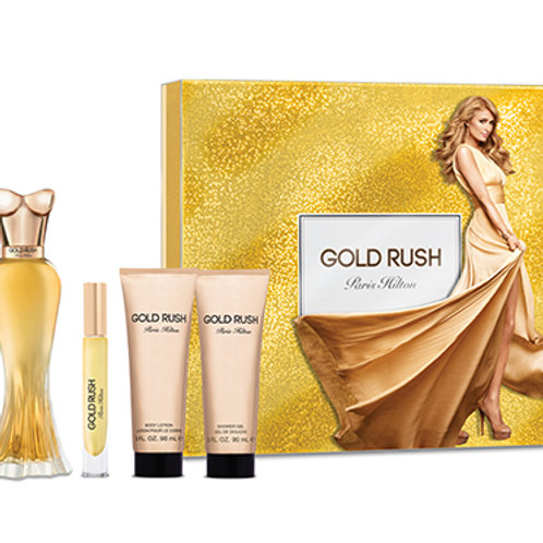 Paris Hilton Gold Rush 4pc Gift Set EDP