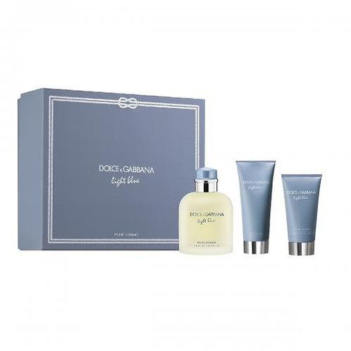 Dolce & Gabbana Light Blue for Men 3pc Gift Set EDT