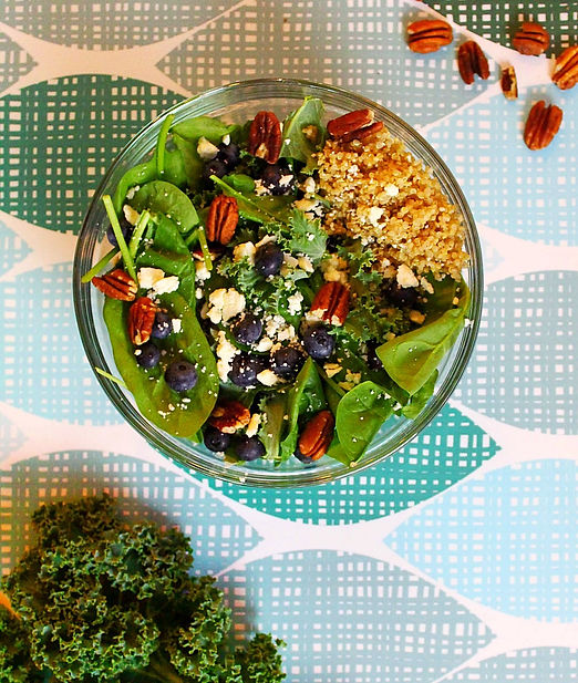 Blueberry and Toasted Pecan Salad