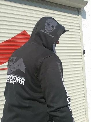 Der Legendäre Zipper. Unisex in der krassen Farbkombi schwarz/grau AMOK No.2